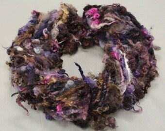 Handspun art yarn Teeswater  locks and more , 5.2 oz, 41 yards