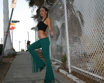 Fringe Pants- Bell bottoms- Goddess Wear- Mermaid- Festival Pants
