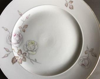 Johann Haviland Sweetheart Rose 1969 Dinner Plate Vintage Bavaria Germany Soft Pink & Yellow - #1785
