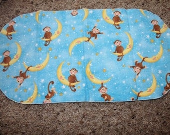 Monkey Moon Star Burp Cloth