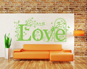 Love Quote, Vinyl Wall Art Sticker Decal Mural. Home, Wall Decor. Living Room, Bedroom. 120cm Wide x 52.4cm High