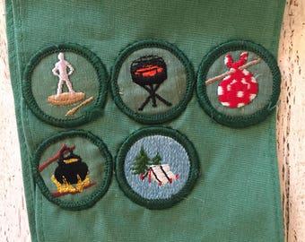 Vintage 1970s Girl Scout Sash