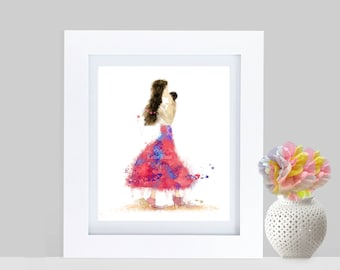 """Mother baby art ~ """"Mother's Love"""" watercolor digital art ~ INSTANT DOWNLOAD for print ~ Nursery decor ~ Baby shower gift~ Gift for mom"""
