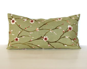 Lumbar Pillow Cover 8x16 Petite Lumbar Floral Sring Decor Shabby Chic Cottage Decor Decorative Pillow Throw Pillow Cover