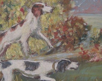 Hunting Dogs Oil Painting