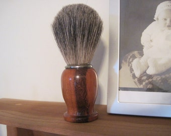 Shave  Brush Hand Turned Grade A Badger Hair with Goncalo Alves Wood handle