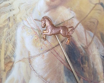 Vintage Brass Rare Unicorn Pin