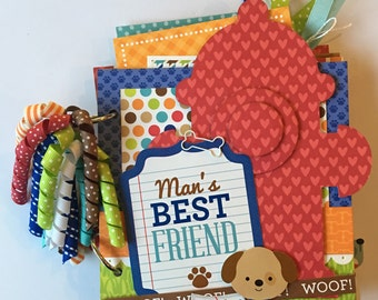 Dog Puppy Mini Scrapbook Album
