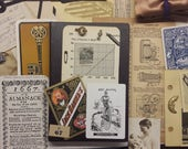 vintage masculine junk journaling kit | vintage junk journal embellishments | DIY junk journal vintage steampunk | vintage junk journals