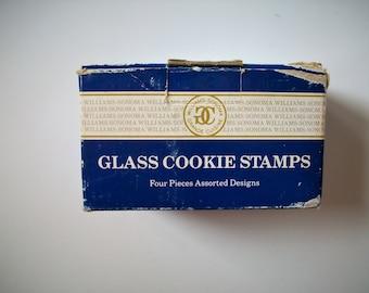 vintage glass cookie embossers | cookie stamps | vintage heart cookie stamp | glass shamrock cookie stamp | vintage cookie designs