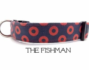 Phish Dog Collar, Fishman Dog Collar, Fishman Donut, Plastic Buckle  Collar, Fishman Donut Dog Collar, Phish Dog Leash (sold separately)