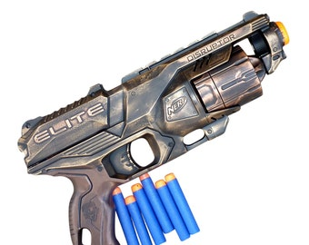 Steampunk TOY gun Nerf Elite Disruptor soft dart toy Cyber gothis cospla Vampire Zombie Man Wholesale price