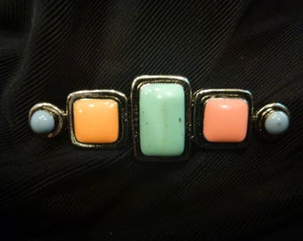 Vintage ESTATE Colored STONE BROOCH
