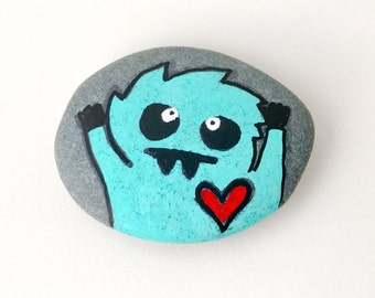 Painted Rock Monster Pet Rock