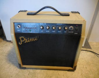 Vintage 1960s to 1980s Retro Working Prime Guitar Amplifier Guitar Tuner Traveling Made in Korea Amp Intrument Prop Decor Electric
