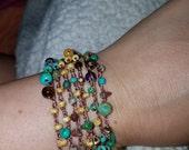 Mixed Beads Crocheted Bracelet