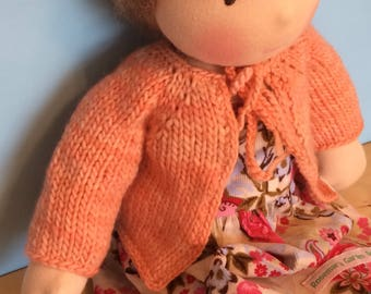 Waldorf Doll Knit Sweater for 14/15 Inch Waldorf Doll  **Apricot**
