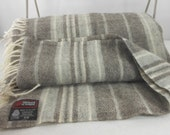 "Luscious Wool Blanket SAMBAND ICELAND Greys & Creams Large Throw 54"" X 79"""