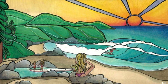 11x14 Matted Print Surf Family SALE!