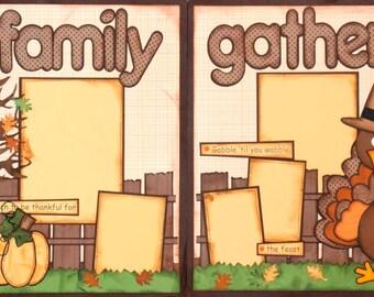 "Scrapbook 2 Page Layout ""Family Gathering"" Scrapbook Kit"