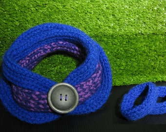 Twinset blu and purple neckwarmer