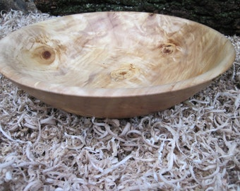"Extra Large Poplar Wood Bowl with great color 14"" diameter  Bowl Dough Bowl Fruit Bowl  large salad bowl platter"