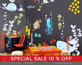 Underwater Playroom Wall Decals - Kids & Nursery Wall Decor- SALE NOW