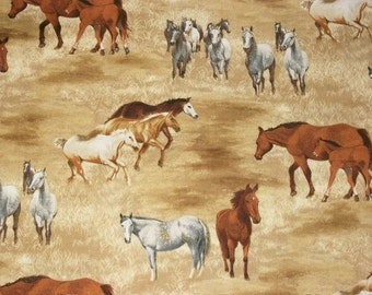 Robert Kaufman Horse Fabric, Western Fabric, By The Yard, Quilting Fabric, Sewing Fabric, Apparel Fabric, Crafting Supplies, Novelty Fabric