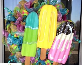Summer Popsicle Wreath