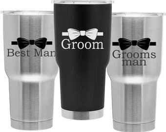 Groomsmen 30oz Copper Insulated Tumbler - Wedding Gift - Wedding Party Gift - Bachelor Party - Groomsman Mug - Best Man Gift