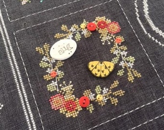 August Chalk Squared cross stich patterns by Squareology Hands on Designs Just Another Button Co. chalkboard wall art