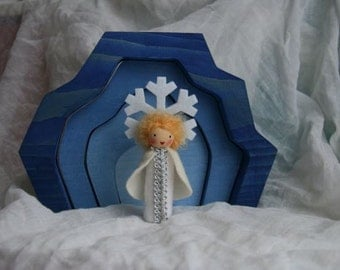 snowflake child for your nature table / christmas / waldorf