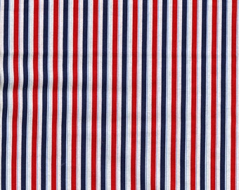 Fourth of July Fabric - 100% Cotton Quilt Fabric - Striped Red White and Blue Fabric - Patriotic Fabric - Independence Day Fabric