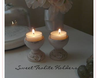 Sweet Pink Tealight Holders with Roses~