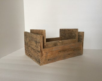 Reclaimed Wood Nesting Crates- Set of 2