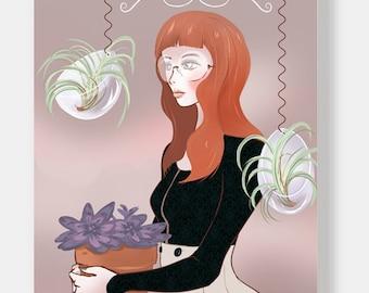 Soft flower girl A4 gloss print