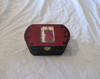 Madame Bat Gothic Victorian Keepsake Box