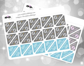 Date Night/ Lunch Date Corner Planner Stickers, 30 Planner Stickers for Erin Condren Planner, Filofax, Plum Paper | Item MN-71