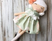 Fiona ~ SpunCandy Classic Doll, Heirloom Quality Doll, Modern Rag Doll, Nursery Decor, Kids Decor, Fabric Doll, Cloth Doll, Handmade Doll