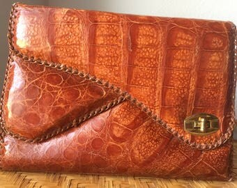 Vintage Genuine Alligator clutch