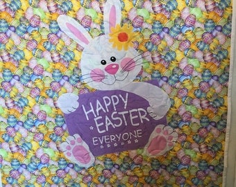 Happy Easter Everyone Throw Quilt