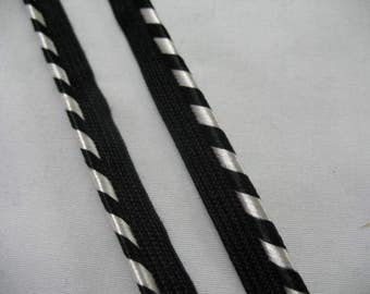 Black and Silver  Pillow Trim Piping Cord Gimp