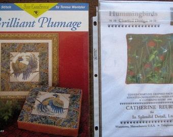 2 Cross Stitch/Needlepoint Charts Featuring Birds