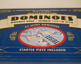 Dominoes Tin Case White