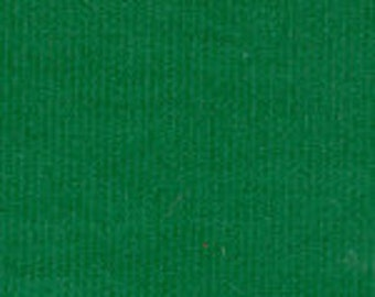 Kelly Green Corduroy Finewale Featherwale Babywale 21 wale 1 yard