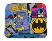 Mouse Pad - Batgirl fabric - Comic book Women Superhero - Home office / computer / Electronic