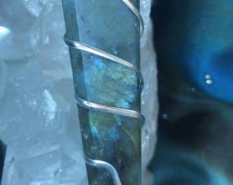 Labradorite Pendance necklace on silver chain