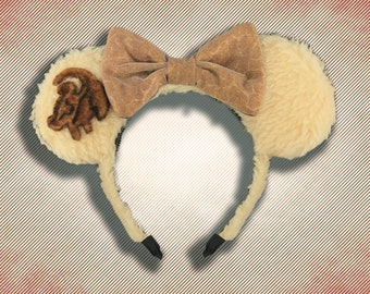 Lion Mouse Ear Headband with Bow