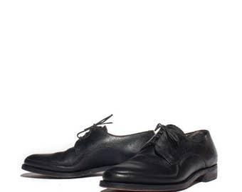 30% OFF 7 D | 1950's 1960's Vintage Men's Black Oxfords Walking Shoes by Freeman