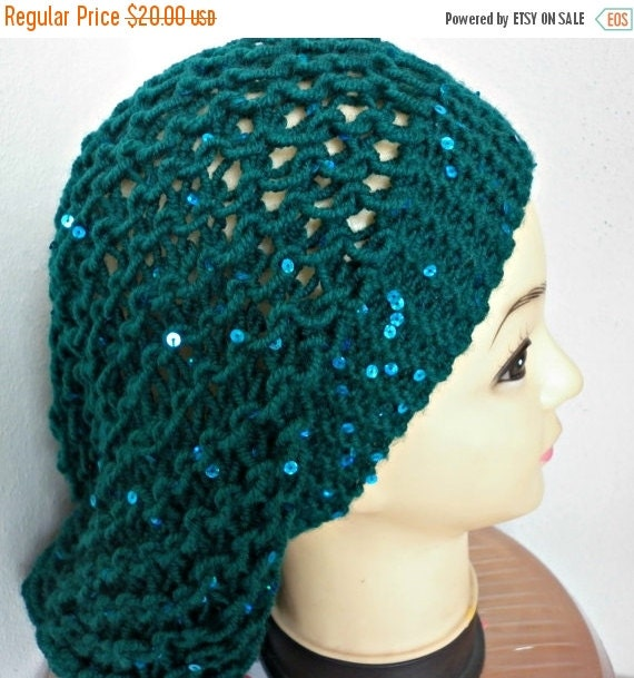 ON SALE --- Emerald Green Slouchy Beanie Knit Hat,Winter Hat, Knit Beanie, Womens Hats, Chunky Knit Hat, Girl Gifts, Teen Gift Gift Ideas Fo